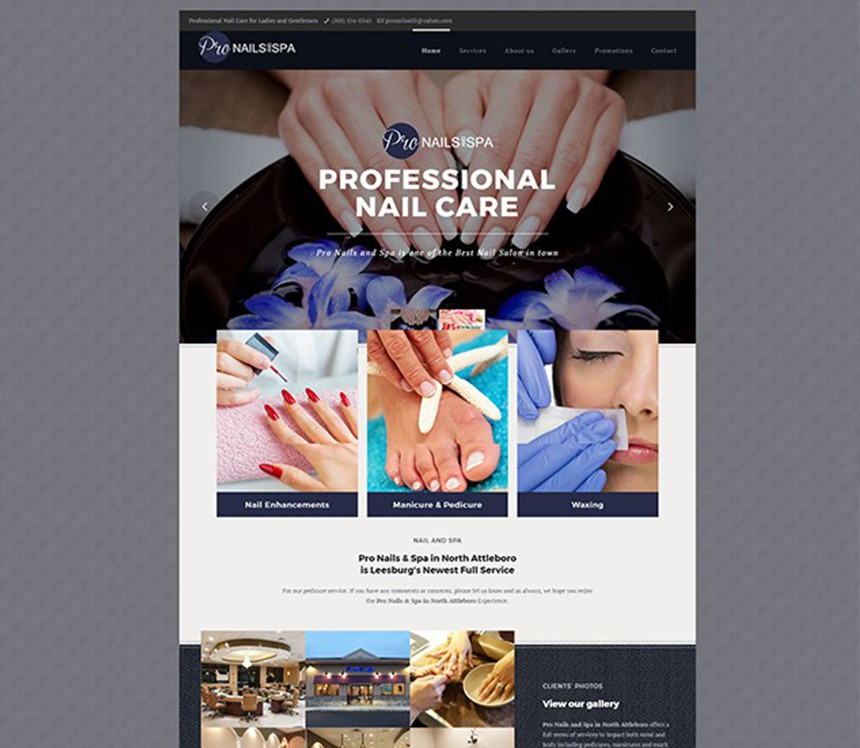 PRO NAILS AND SPA – Best Salon Websites – Nail Template Websites ...