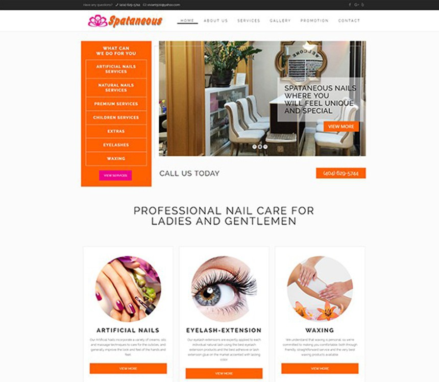 SPATANEOUS NAILS – Best Salon Websites – Nail Template Websites ...